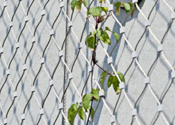 Stainless Steel Green Wall Mesh Net Ferrules / Knotted Type For Garden